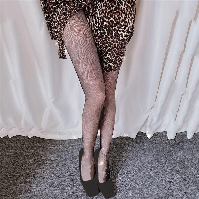 여성을위한 메쉬 스타킹을 통해 섹시한 검은 나이트 클럽 파티 긴 스타킹 얇은 통기성 여성 스타킹 팬티 스타킹