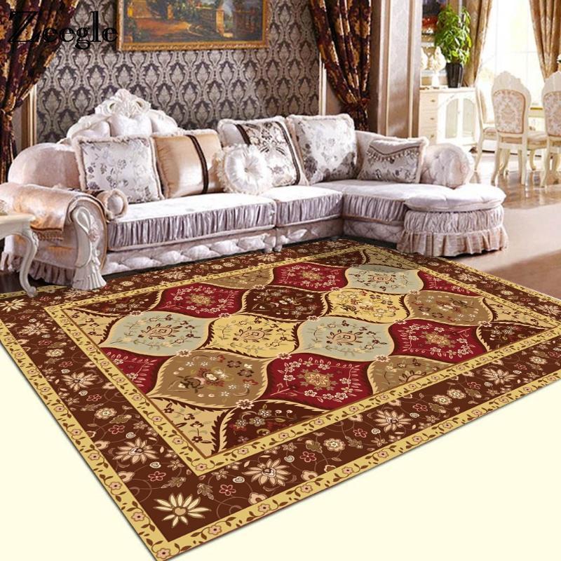 Zeegle Große Teppiche für Wohnzimmer European Style Study Room Area Rug Anti-Rutsch-Schlafzimmer Teppiche Sofatisch Bodenmatten Heim Teppich