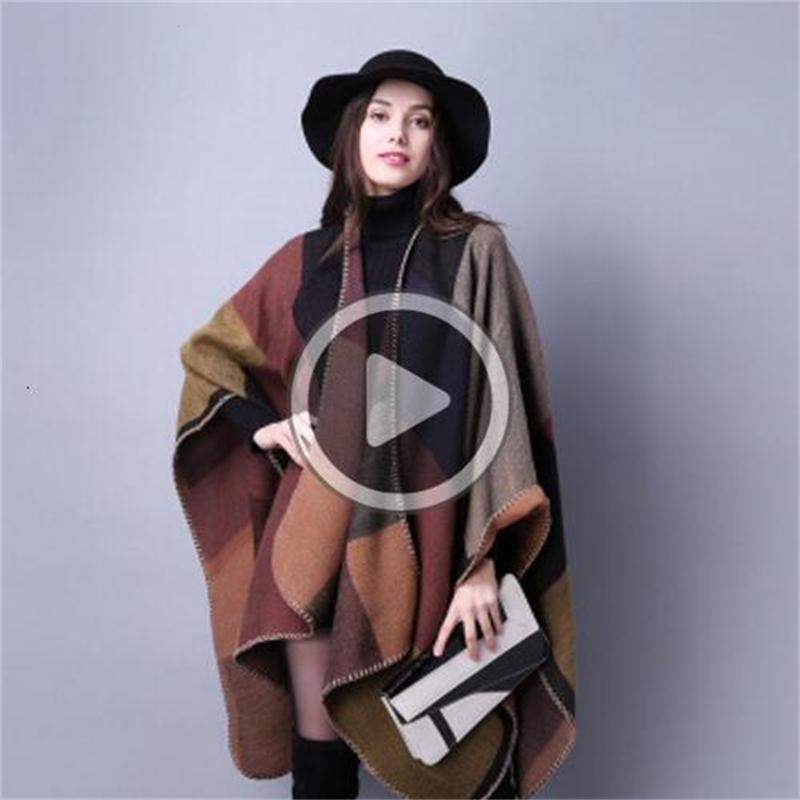 BA6O осень зима шарф консольной леди путешествия накидка имитация кашемира и американское гражданство ветра вилка утолщение плащ