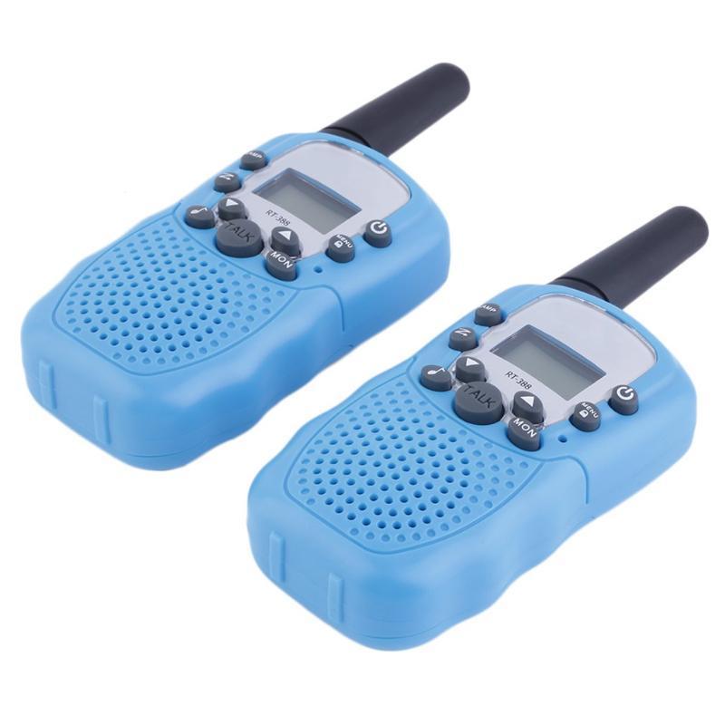 2PCS Rt-388 Walkie Talkie 0.5W 22Ch Two Way Радио Для детей подарка детей Крытый Простой в использовании батареи питания
