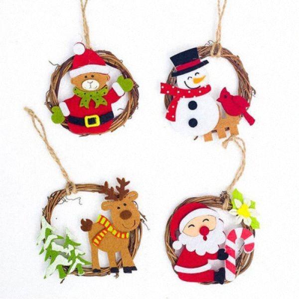 Merry Christmas Tree Decorations Artificial Snowman Ornaments Pendant Xmas Tree jsz3#