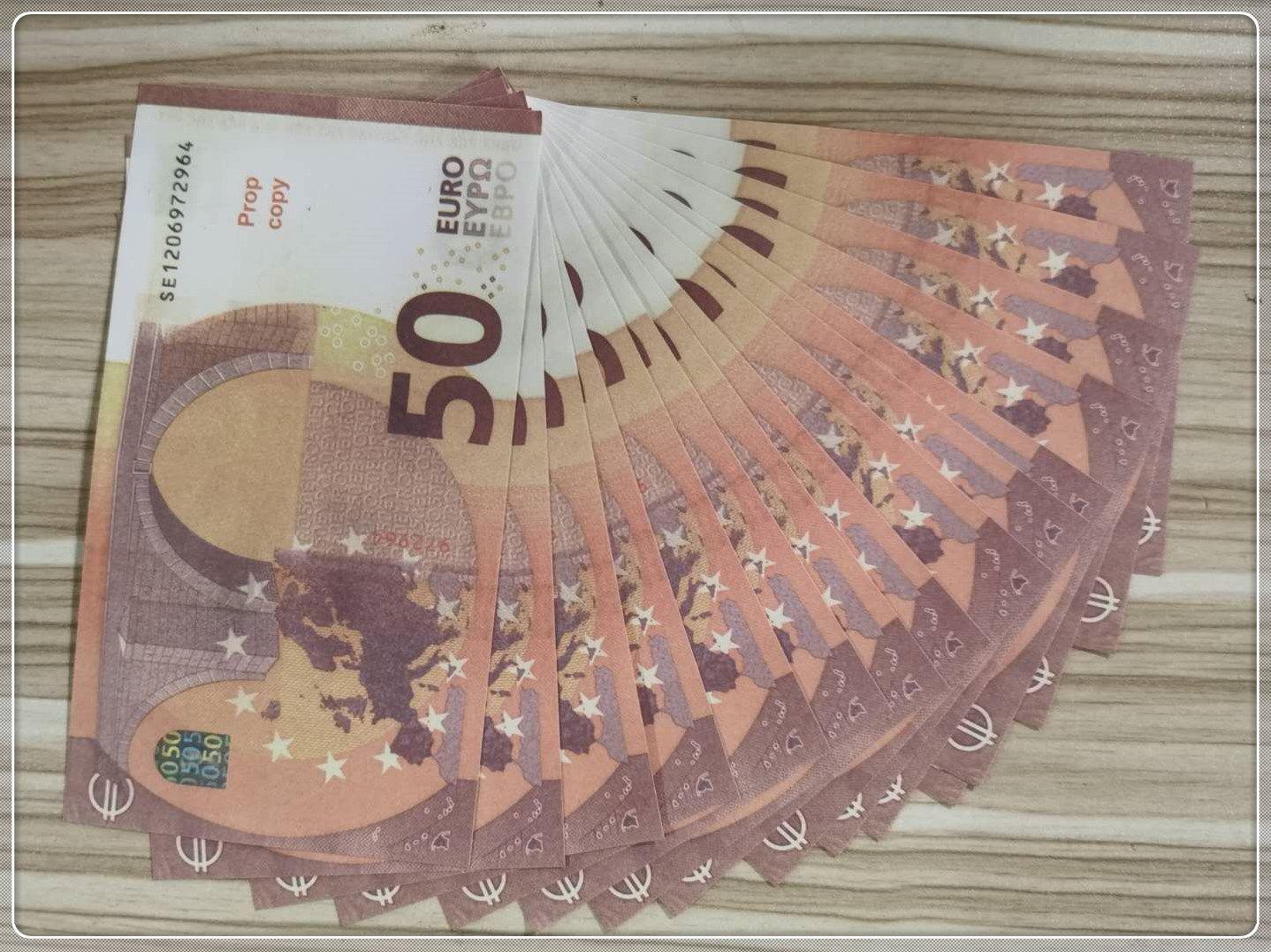 50 Bar Bar de la contrefaçon Banknote BFERE EURO TIMOING MV PARTIE DE LA PARTIE DE LA PARTIE DE LA PARTIE PROPAGNE LE50-43 COPY PROP RAJUF