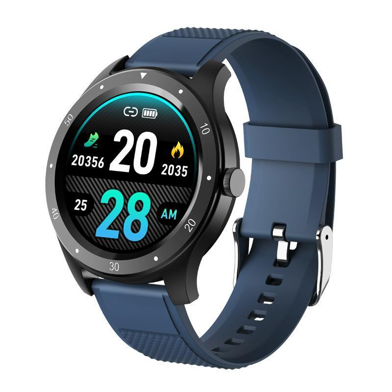 Smart Watch S6 Toque Pulsera Tarifa cardíaca Presión arterial Fitness Tracker Color Hombres Mujeres Sports Llamada Alarma Android IOS Ronda Banda Ronda J
