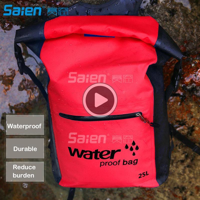 La bolsa impermeable Mochila CSW2 seco Prem 500D PVC 25L Para excursión que acampa al aire libre Navegación Kayak