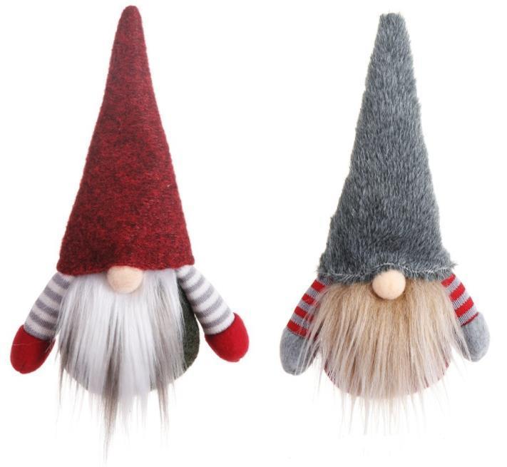 New Christmas Handmade Swedish Gnome Scandinavian Tomte Santa Nisse Nordic Plush Elf Toy Table Ornament Xmas Tree Decorations