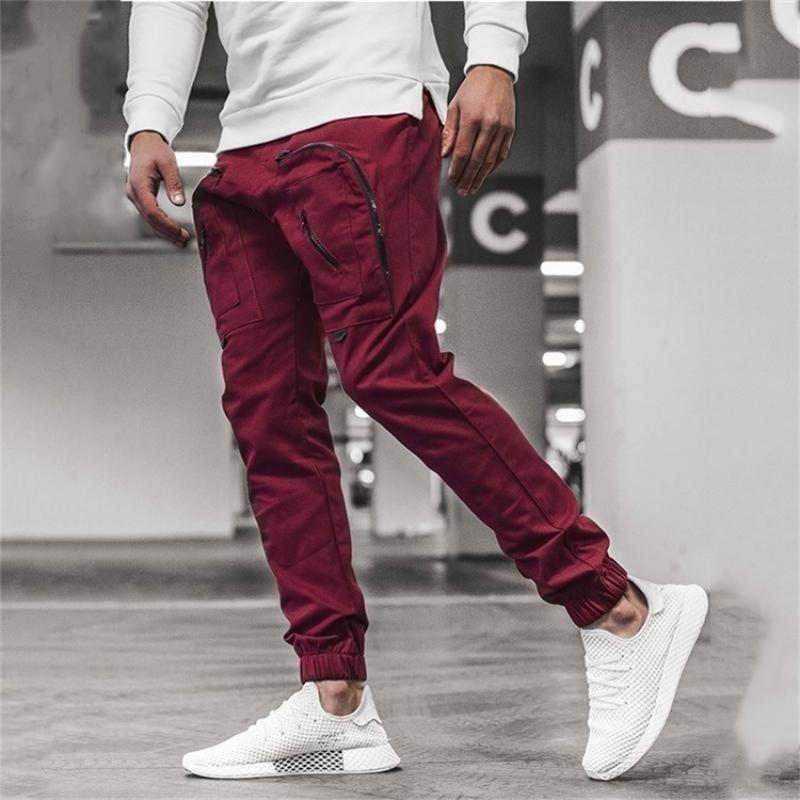 Chrleisure Men's Cargo Pantalones Pantalones Streetwear Joggers Sweetpants Moda Hip Hop Pantalones sueltos Hombres Y201123