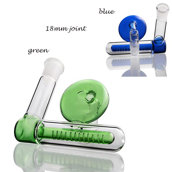 잘 액세서리 무료 배송 유리 Ashcatcher 흡연 18mm 그린 블루 18mm 애쉬 포수 유리 기억 만 내부 퍼크 기능