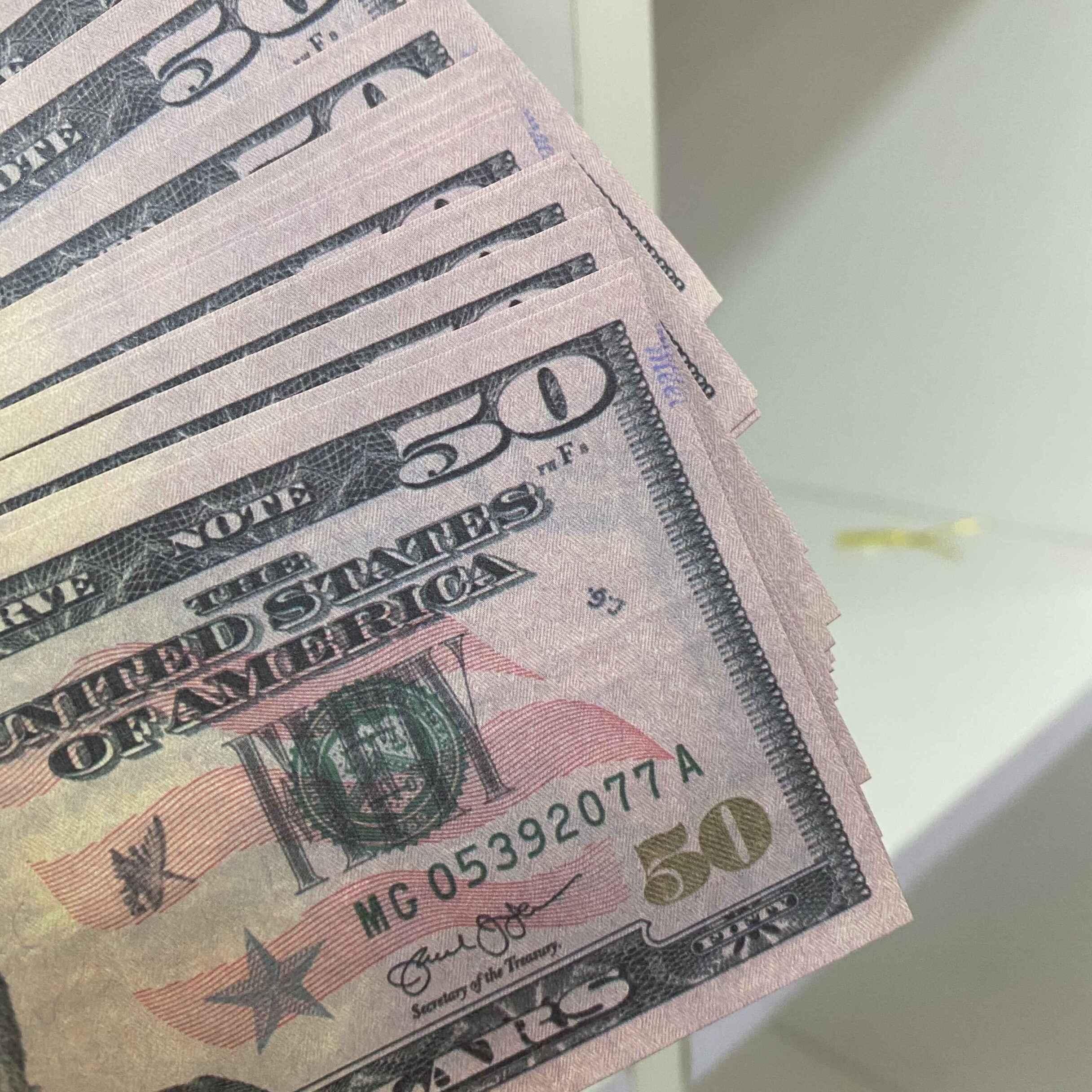 Для 100 / упаковки денег деньги Prorg деньги счета банкноты цена Бизнес подделкой 02 мужчины 50 бумажных банкнот доллар коллекции подарков поддельные WBJMJ