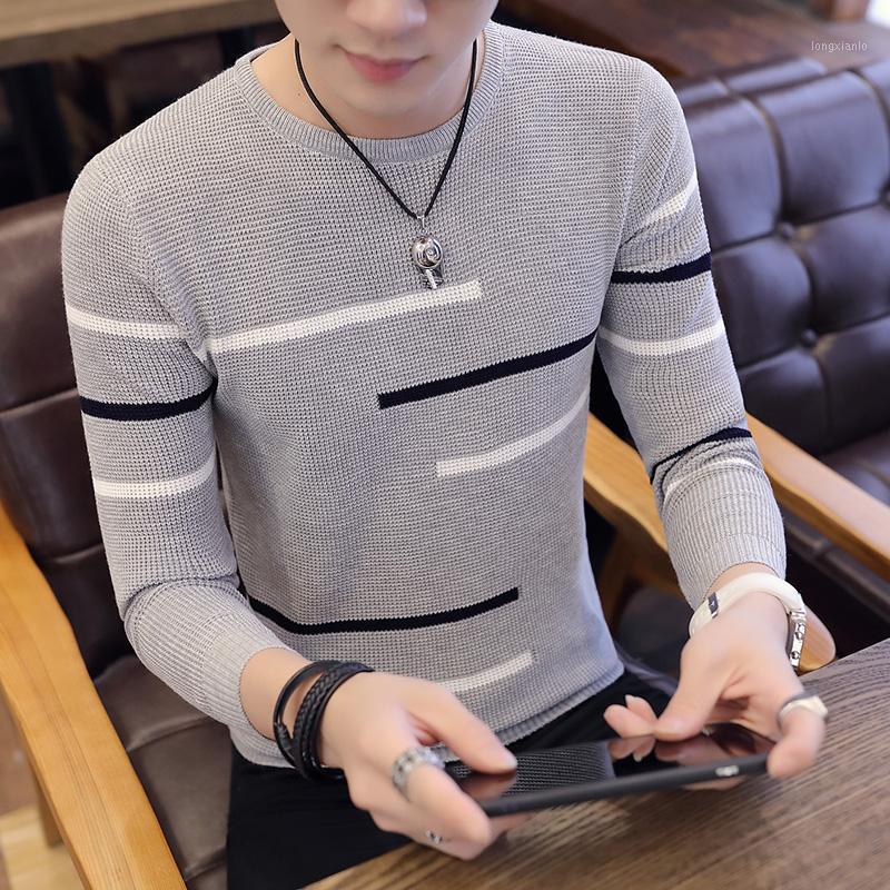 Automne Nouveau Couleur V-Col V coréen Chemise de bas de la mode coréenne Pull Pull Sweater Youth Slim Line1