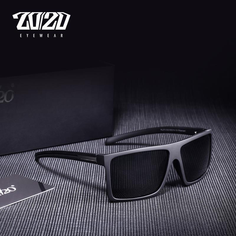 20/20 Com os homens óculos de sol e óculos negros projetam óculos de sol clássicos para dirigir macho polarizado PL273 Shades Oculos Brand Juati