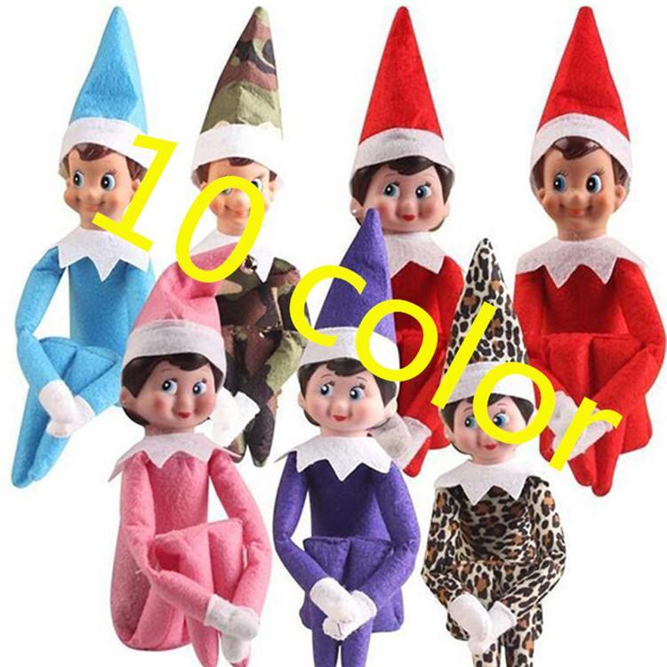 10 stili giocattoli Christmas Elf Doll peluche Elfi Babbo bambole vestiti sullo scaffale per giocattoli regalo di Natale della bambola della peluche 02