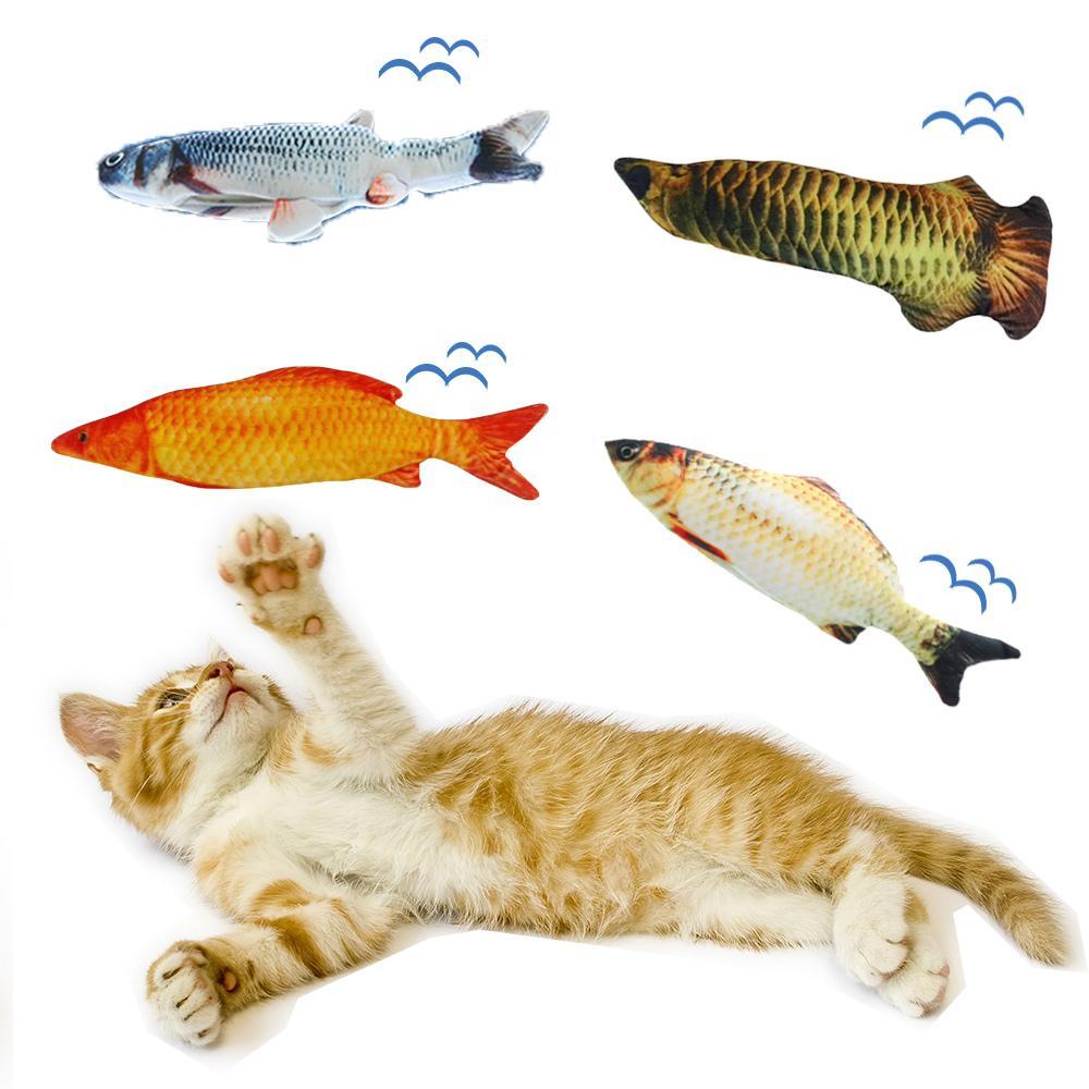 Jogar catnip Peixe Brinquedos para gatos Jogo Dormir Formação Toy Mastigar Scratcher Garras New diversão criativa Macio Stuffed Plush Pillow