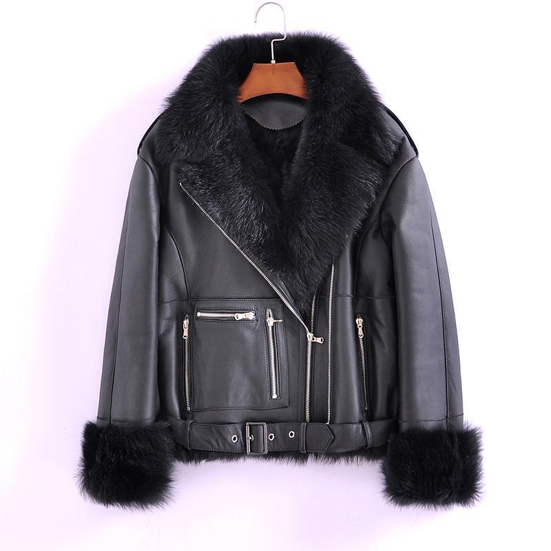 Doppelnatur Mantel Frauen-Winter-Faced Wolle Liner Jacke Weiblich Vintage Short Echt Pelzmäntel Sheep Shearing Jacken 9663