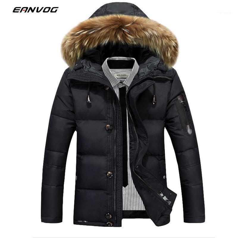 Uomini inverno caldo anatra piumino piumino da sci addensare neve fitta con cappuccio puledro cappotto giacca caldi linea portatile pacchetto uomo pack1