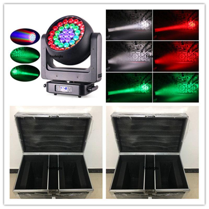 4pcs with flightcase led dj bee-eye 4in1 zoom moving head wash lyre dmx 37x20w led rgbw zoom moving head light