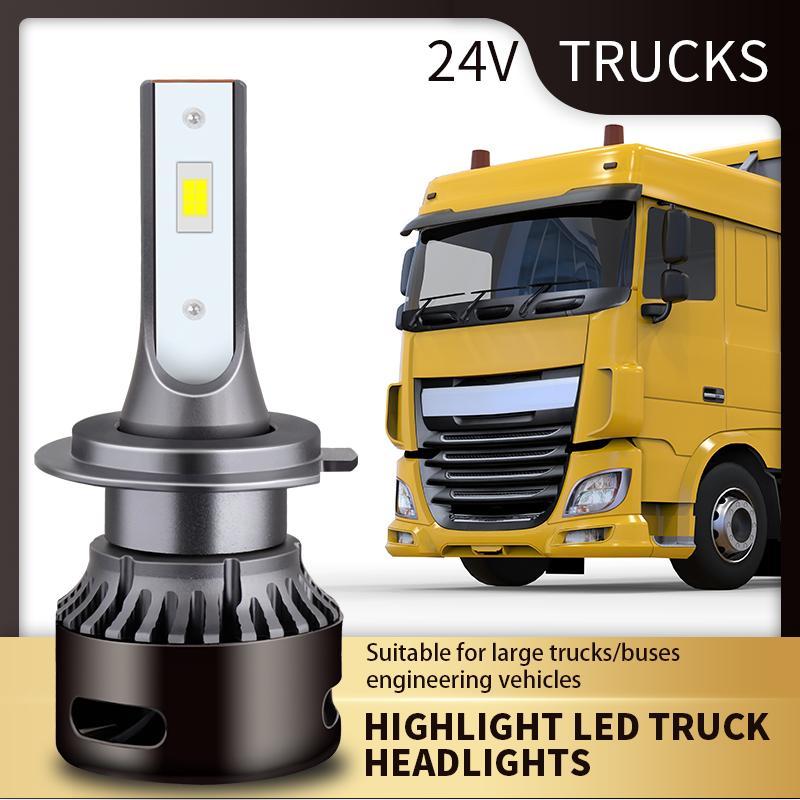 h1 H3 H4 H7 Led 24V 95W LKW-Scheinwerfer-Lampe 15000Lm Hohe Helligkeit LED-Autoscheinwerfer-Birnen Turbo Csp