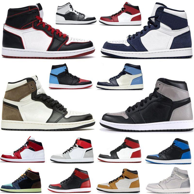 2021 Yüksek OG Toe 3 Orta Chicago Erkekler Basketbol Ayakkabıları 1 S Duman Gri Obsidiyen Karanlık Mocha Kadınlar Jumpman Spor Trainer Sneakers ile Kutusu