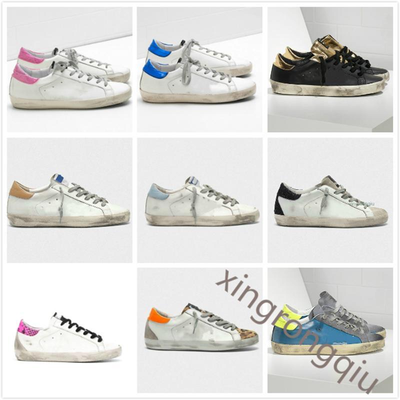 إيطاليا ماركة ديلوكس ماركة الذهبي حذاء سوبر ستار الترتر الكلاسيكي الأبيض القيام به القديم أحذية أوزة مصمم رجل المرأة عارضة الأحذية