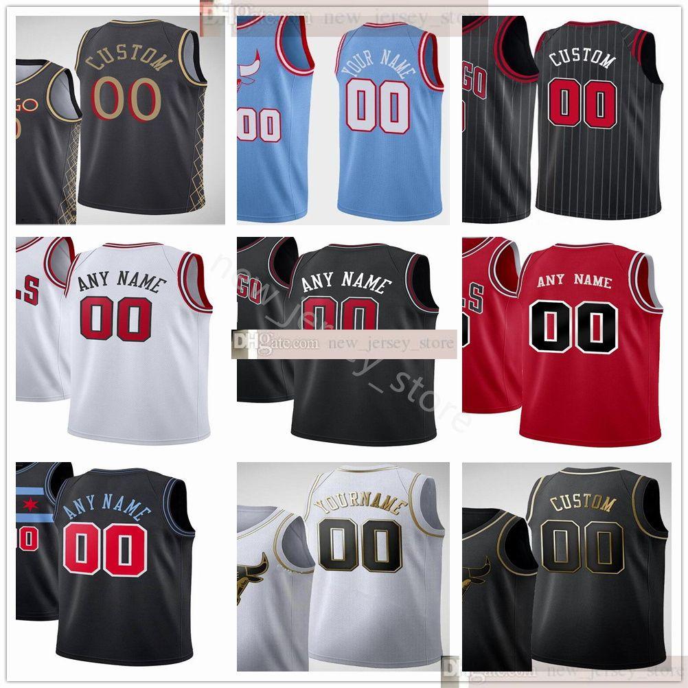 Jerseys impresos personalizados de primera calidad 20-21 Nueva ciudad azul rojo negro Jersey blanco. MENSAJE CUALQUIER NÚMERO Y NOMBRE EN PEDIDO