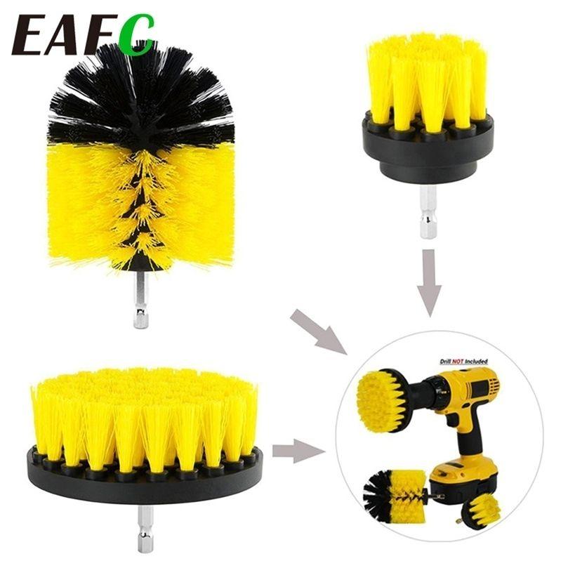 3 pçs / set elétrico broca escova de escova de limpeza escova de limpeza de limpeza ferramenta limpador ferramenta escova de lavagem 201214