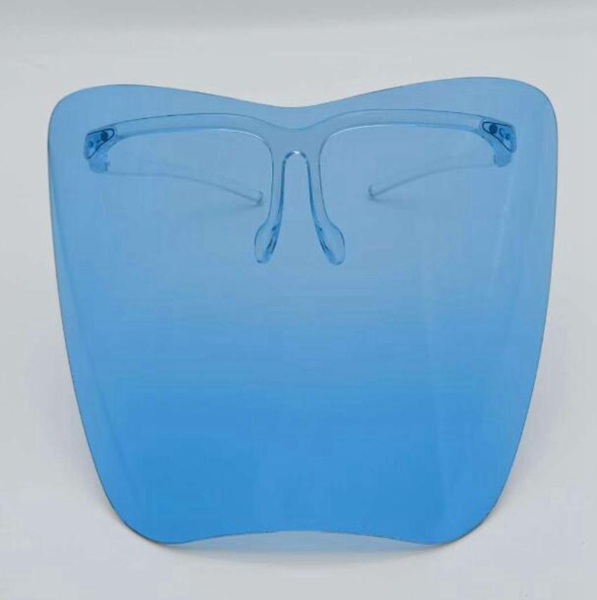 Claro Gafas Face Shield Full Face Masarilla protectora de plástico Colorido Anti-Fog Anti Oil Polvo Splash Safty Cover Faceshield GGA3799-5