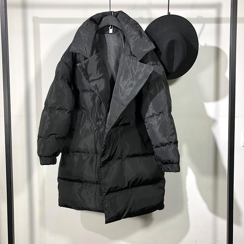 Erkekler Aşağı Parkas Owen Seak Erkekler Pamuk Ceket Gotik Tarzı Giyim Kış Kar Fermuar Yüksek Sokak Katı Boy Siyah Ceket