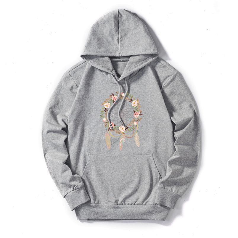 DIY womens moletom mulheres outono inverno flor print diy hoodies moda moda na moda manga longa pulôver top quanlity