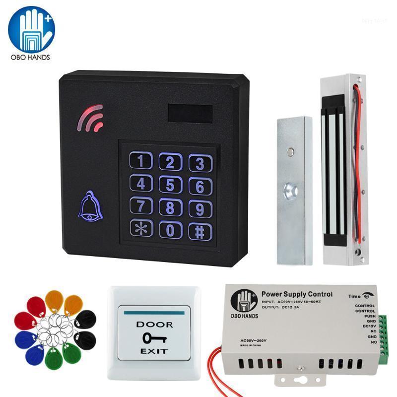 Door Access Control System Outdoor IP Waterproof RFID Keypad Reader + Electronic Magnetic Strike Locks + DC12V Power Supply1