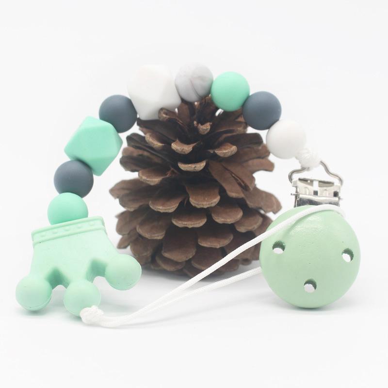 Bebek ürünleri Emzik zincir bebek silikon meme klip sıcak satış karşı açılan zincir emzik zinciri