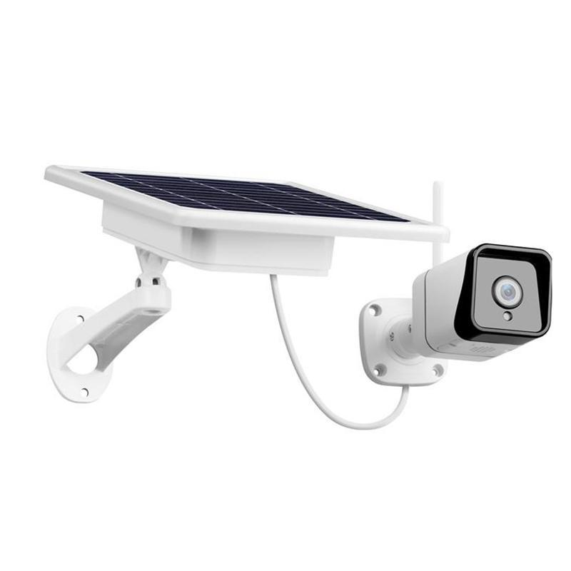 WIFI Wireless Outdoor 1080P 2.0MP Solar Battery Power Microwave Detected Color Night Vision Surveillance Security Camera