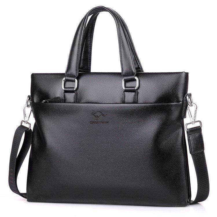 Nuevo bolso de negocios y cremallera de maletín en invierno 2020, cruz de un solo hombro de cuero sintético de negocios, color sólido