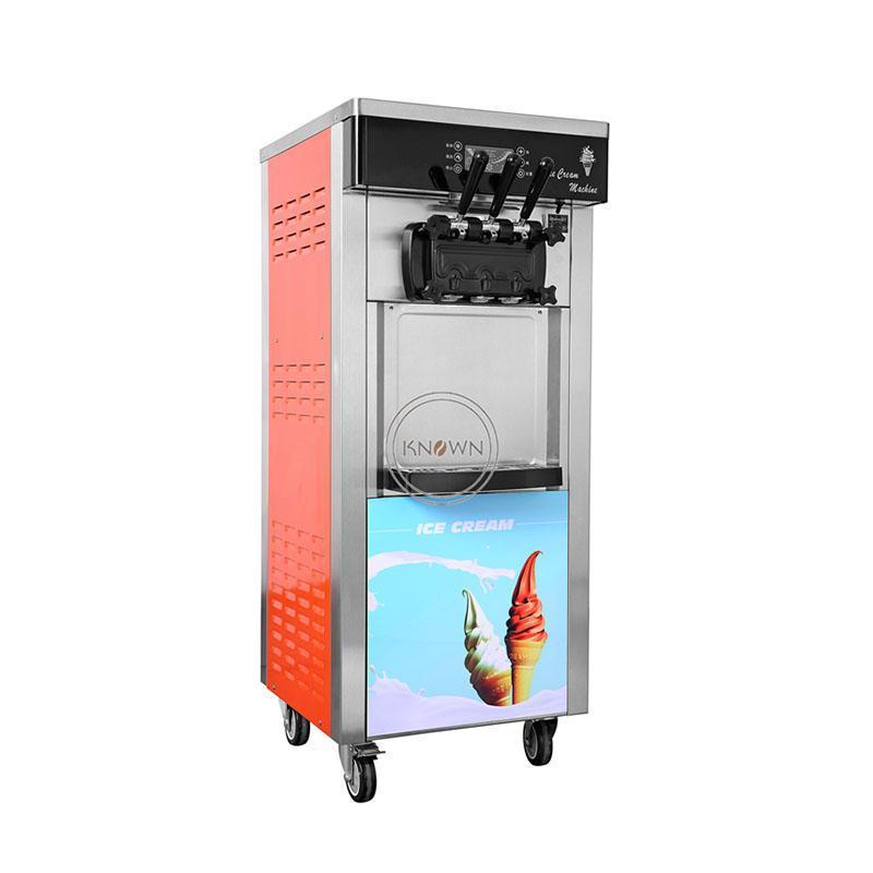 Commercial 6L verticais 3 favor * 2 soft servir máquina de sorvete para venda