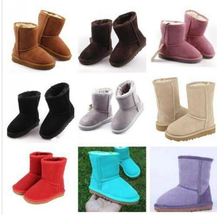 БЕСПЛАТНАЯ ДОСТАВКА Марка Детей Обувь Девушка Boots зима теплый голеностопные малыши Мальчики Boots обувь дети снега сапоги Детского Плюшевого Теплый обуви