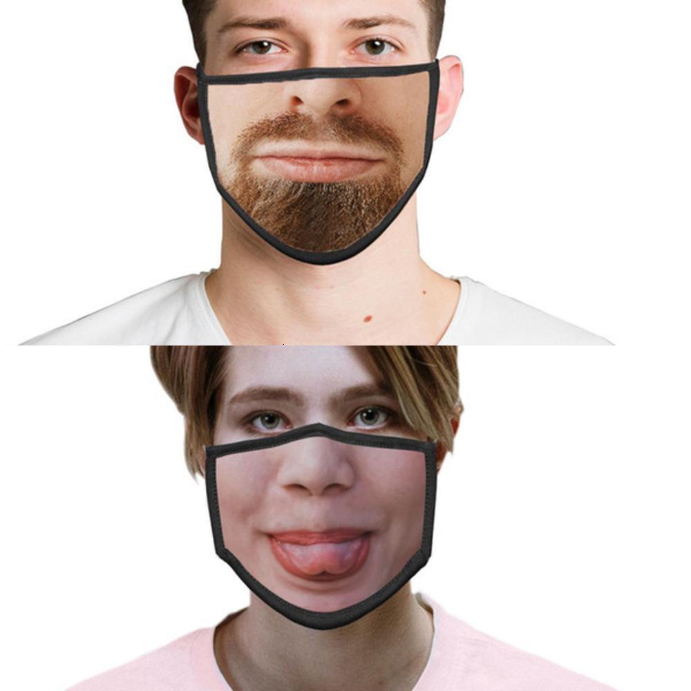 Poussière de coton Funny Face pour avec personnalité MZ Expression Masque Hommes Femmes Preuve et masque Visuel imprimé XKLMG