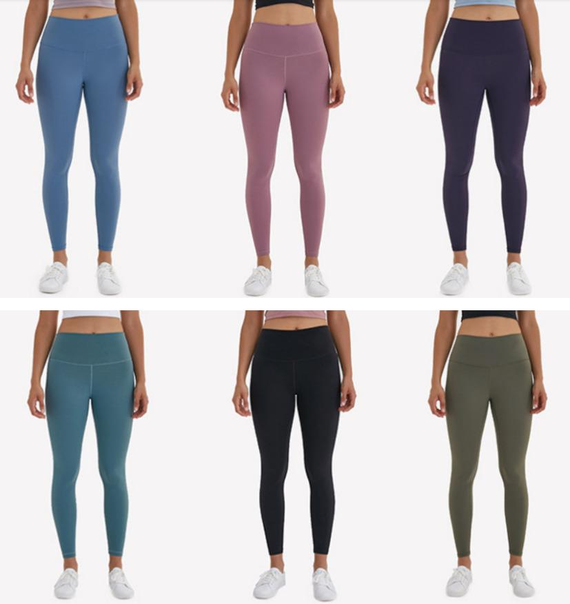 Leggings Yoga de cintura alta L-32 empujan hacia arriba la ropa del gimnasio del deporte polainas de las mujeres aptitud que se ejecuta pantalones de la yoga sin fisuras medias de las polainas del entrenamiento