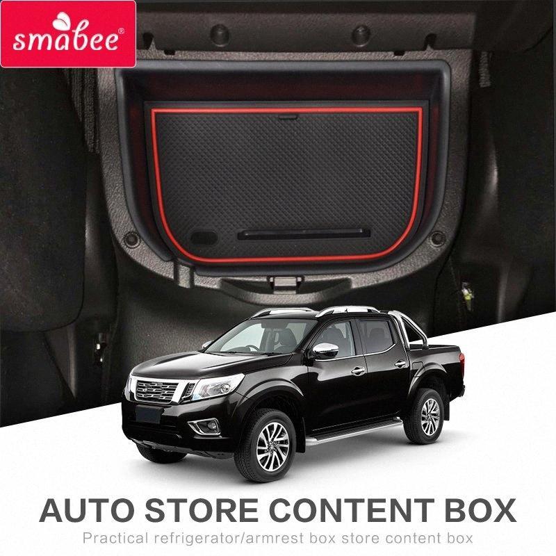 Smabee автомобиля центральный подлокотник Box Для Navara NP300 D23 2015 2018 Interior Вещевой ящик Лоток для хранения Auto Styling xtHe #