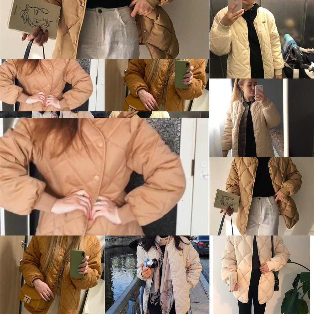 Hc5whzirip 2020 nieuwe kantoor moda casual inverno windjack jas vrouwen quente katoen jassen lange mouwen Bovenkeding