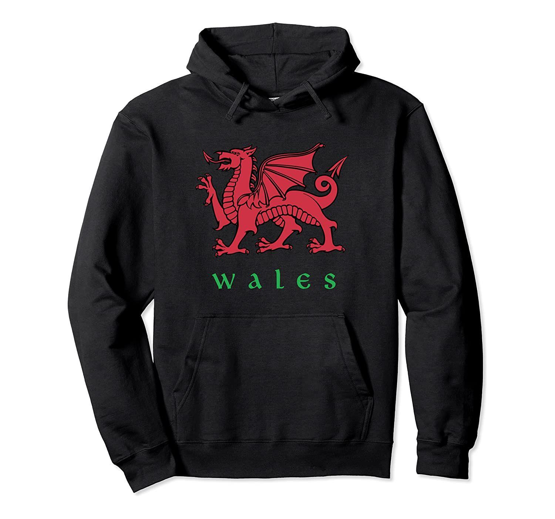 Wales Welsh Dragon Hoodie Unisex Tamanho S-5XL com cores preto / cinza / Marinho / Royal Blue / Dark Heather Cymru Red