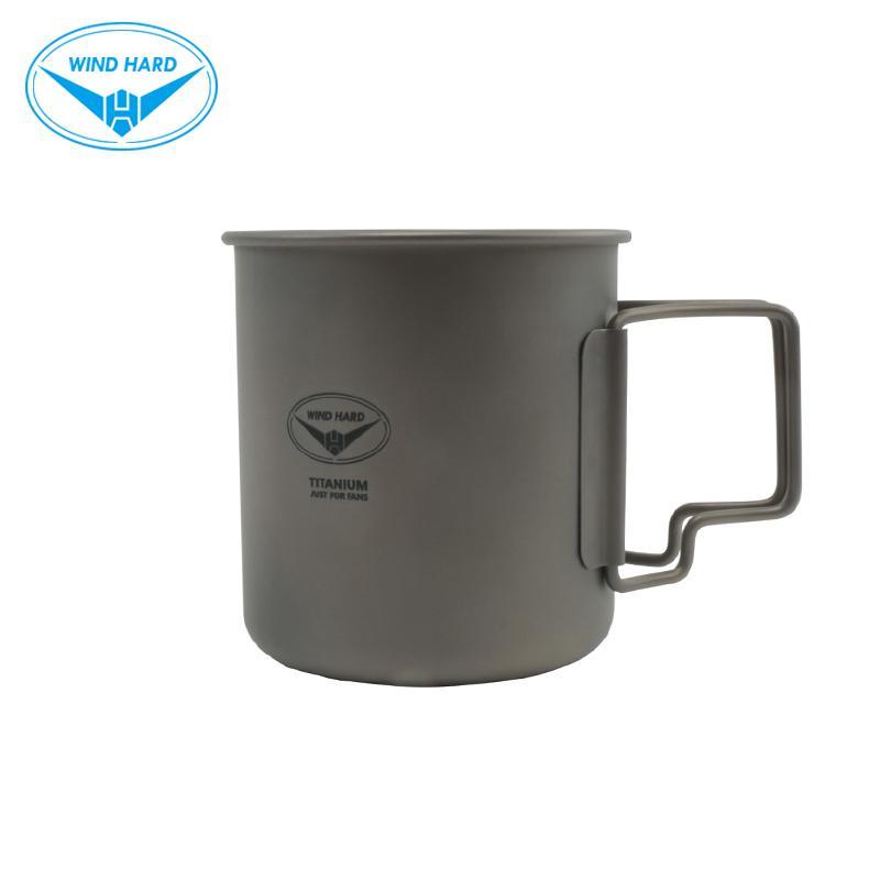 VENT DUR extérieur Titane Coupe Arts de la table de pique-nique Camping Coupe tasse d'eau Tasse de café 480ML C1108