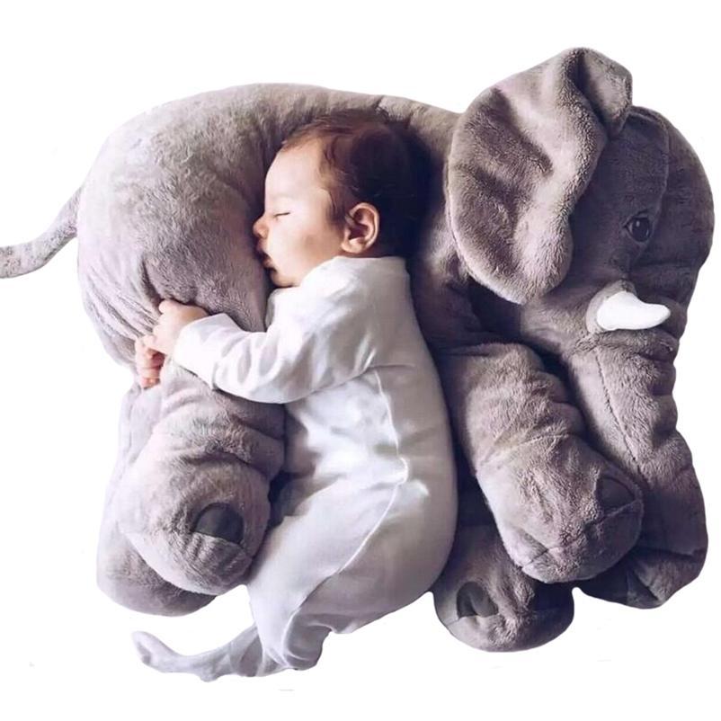 Chegada nova 60 cm Um pedaço de boneca de pelúcia de elefante cinza com nariz longo bonito pp algodão recheado bebê super macio elefantes brinquedos wj346 201222