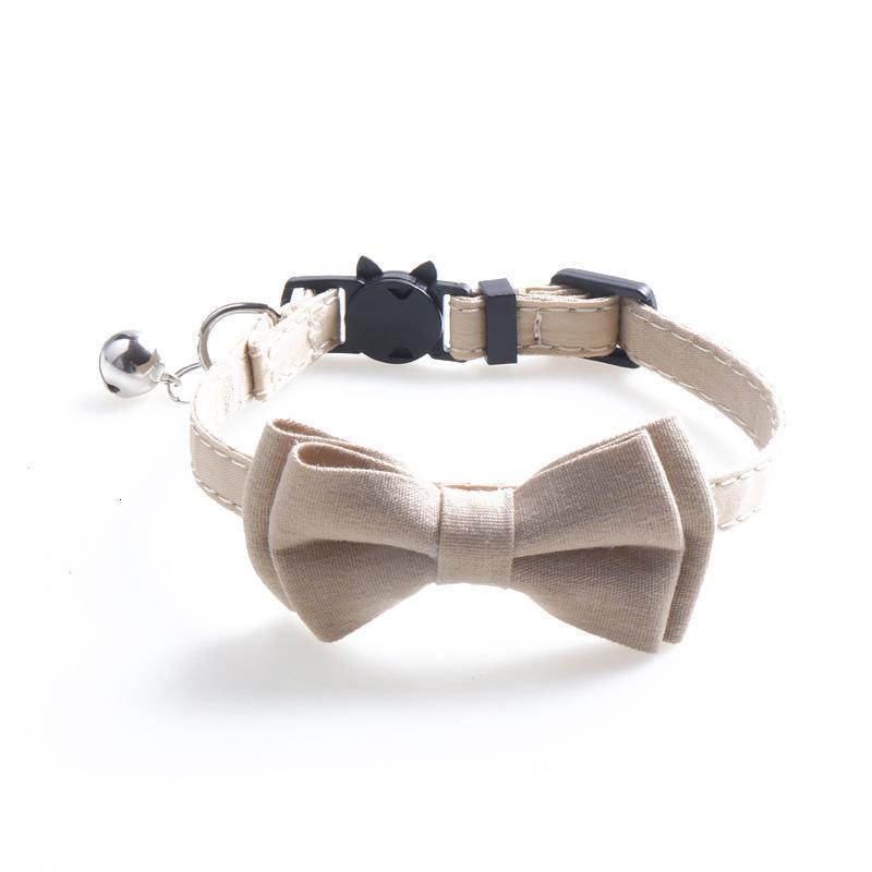 Schnalle Bowknot Kleine Katze Halsbänder Einstellbare Fliege Welpen Hundehalsband Netter kleiner Hundehalsband mit Glocken HBAK