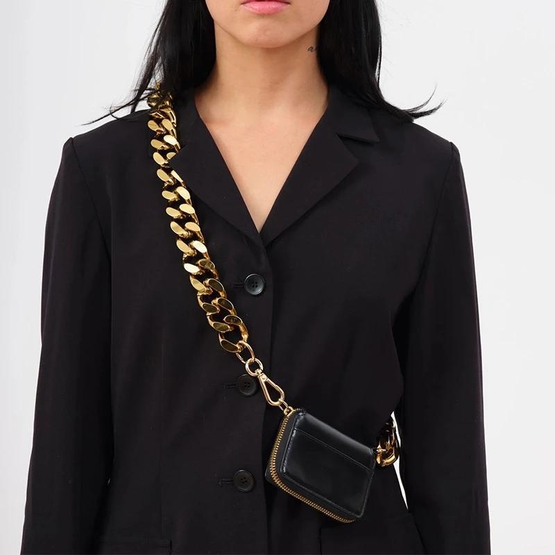 Черный кошелек женская толстая цепь ремешок на плечо сумки мини помада карманный мода кроссбоксов сумки женщин сумка и кошелек C1020