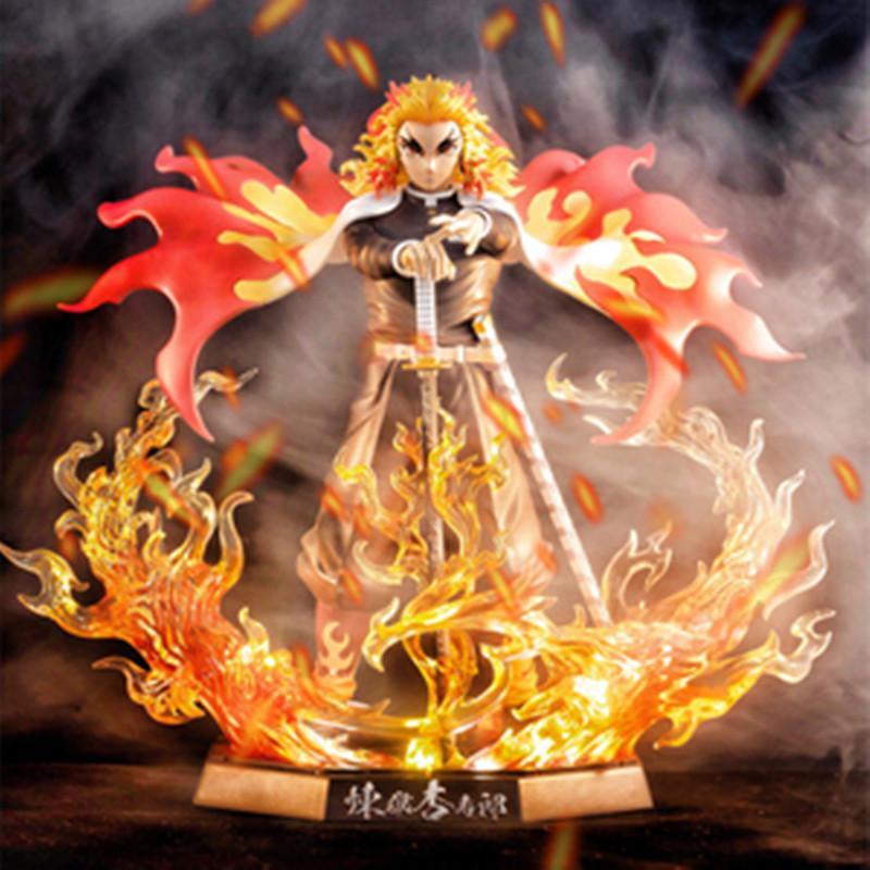Anime Demon Slayer Anime Figura Rengoku Kyoujurou PVC Action Action Figure Toys GK Anime Kimetsu No Yaiba Figurine Modello giocattoli 20cm x0121
