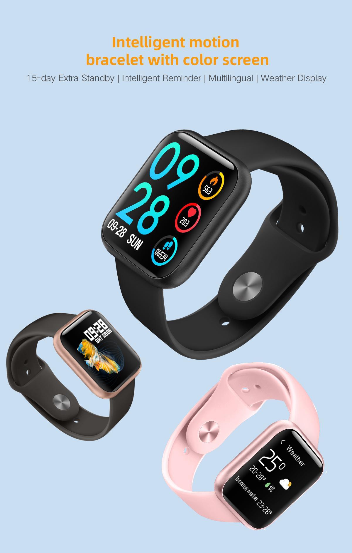 بلوتوث 4.0 P80 الذكية ووتش الضغط مراقب النساء معدل ضربات القلب للياقة البدنية المقتفي الدم ساعة ذكية واجهة USB شحن المغناطيسي