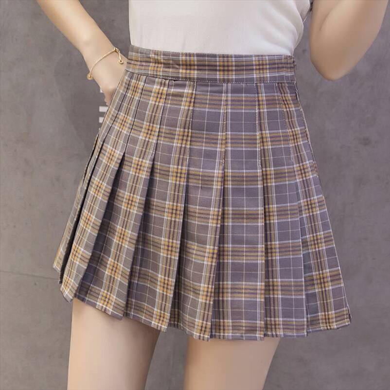 Mulheres plissado saia harajuku formal xadrez estilo mini-saias bonito uniforme escolar japonês senhoras jupe kawaii saia sa