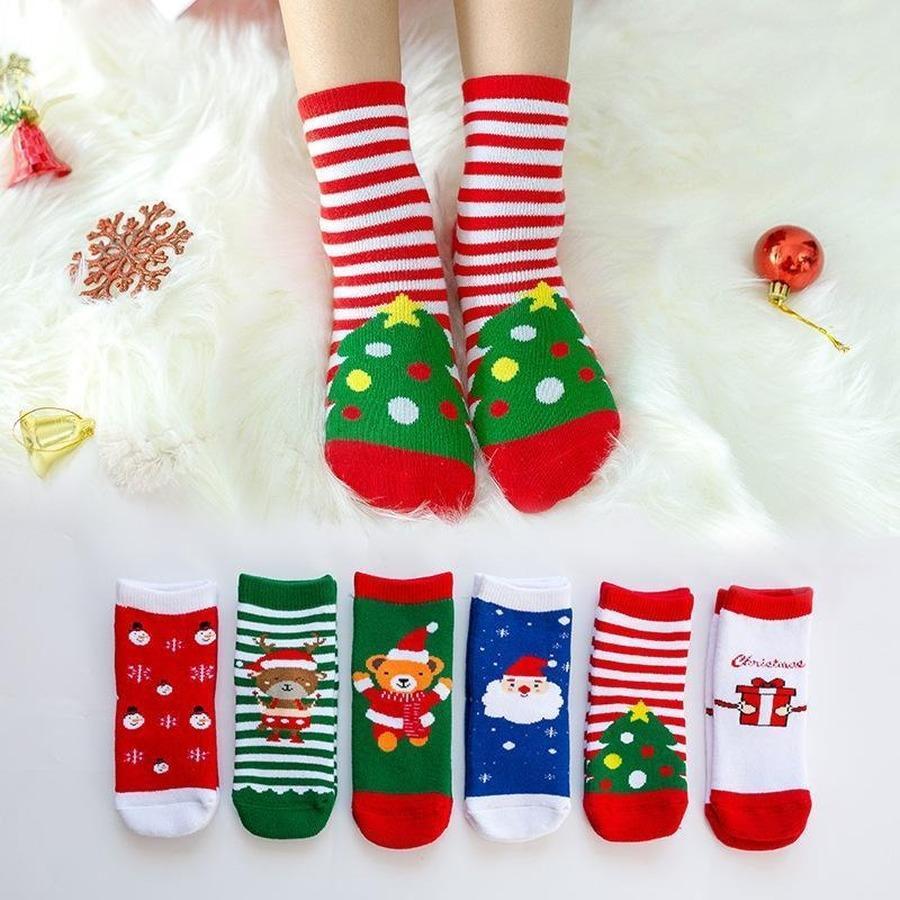 미국 주식, DHL 코튼 봄 겨울 가을 아기 소녀 소년 아이들 양말 어린이 스트라이프 테리 눈송이 엘크 산타 클로스 크리스마스 베어 FY7308