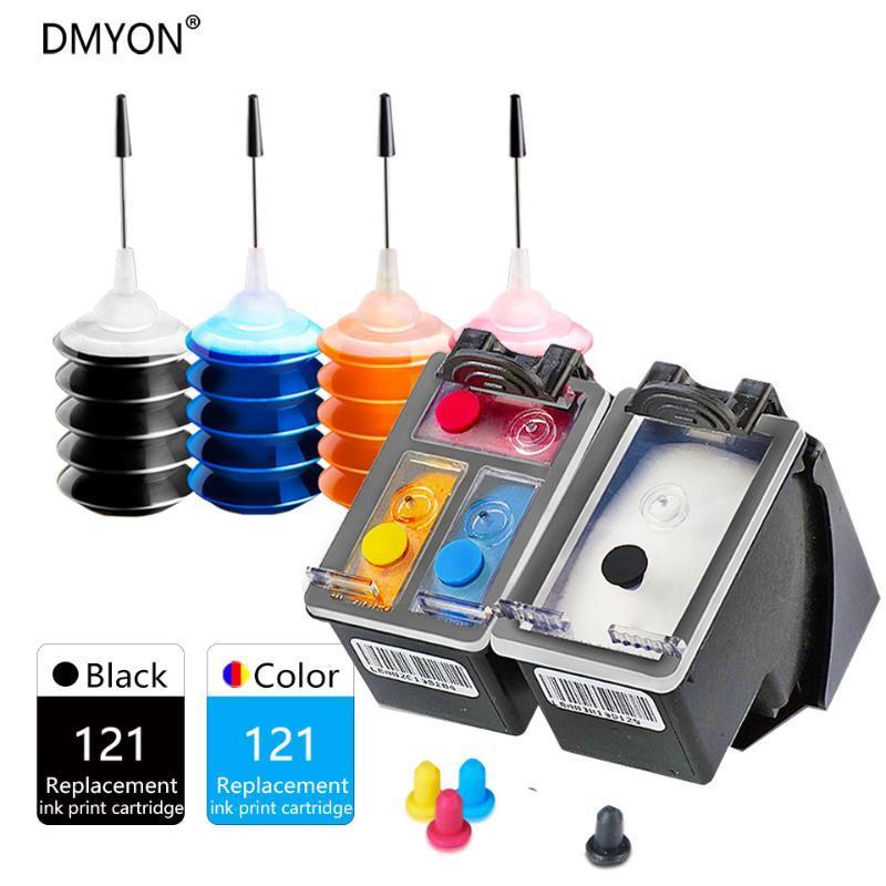 DMYON 121 sostituzione della cartuccia di inchiostro per 121 per Deskjet D2563 F4283 F2423 F2483 F2493 F4213 F4275 J4524 J4525 J4535 Stampanti