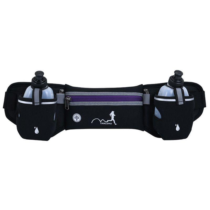 Cintura del deporte Senderismo Dual Pack Bag Botella de bolsillo Bolsa de bolsillo Agua para el titular H8WD Jogging Finxe