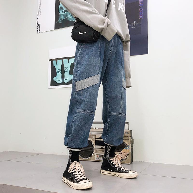 Herbst Neue Jeans Herrenmode Wäsche Retro Trend Wild Denim Hosen Mann Streetwear Hip Hop Lose Cowboyhose Männliche Kleidung M-2XL1