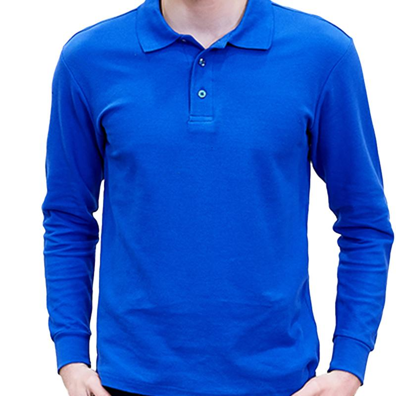 100% Cotton High Quality Solid Color Fashion Casual Shirts Men's Long Sleeve Polo Shirt Plus Size